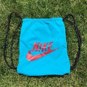 Nike drawstring bag blue and red